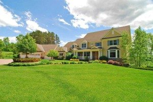 nice lawn with house