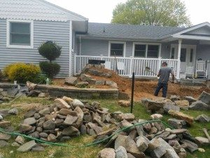 work on front yard