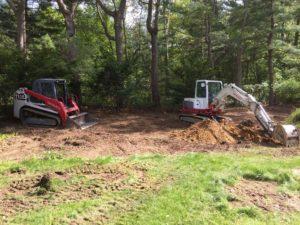 track loader and mini excavator