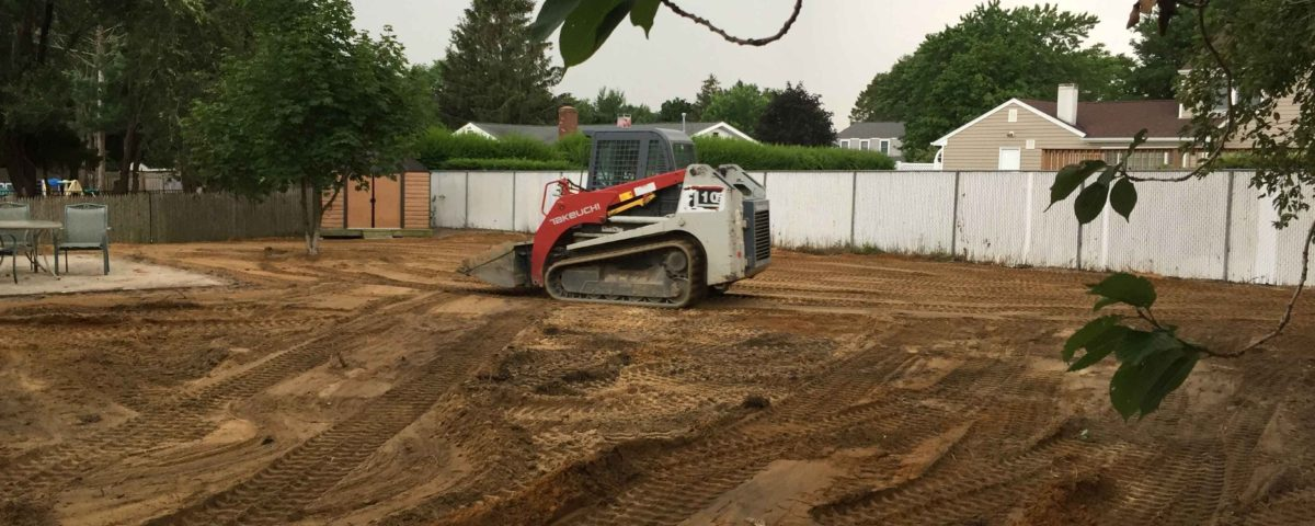 clearing backyard